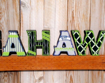 Wooden letter sports teams