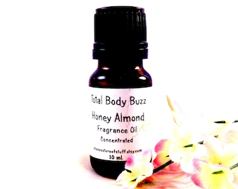 Fragrance Oil - Honey Almond Fragrance Oil - Bath Body Supplies - Soapmaking Lotion Candle Potpourri Incense Fragrant Oil Craft Supplies