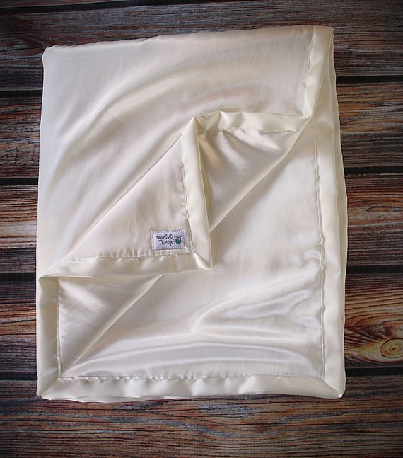 Child Size Soft Double-Sided Satin Blanket With Satin Binding