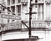 New York Sign, Fashion Photography, Madison Avenue, Fashion,NYC, Travel, Manhatten, Street, Dorm Decor, Preppy, Romantic,Office Art, Nursery