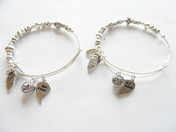 best friend alex and ani inspired charm bracelet by