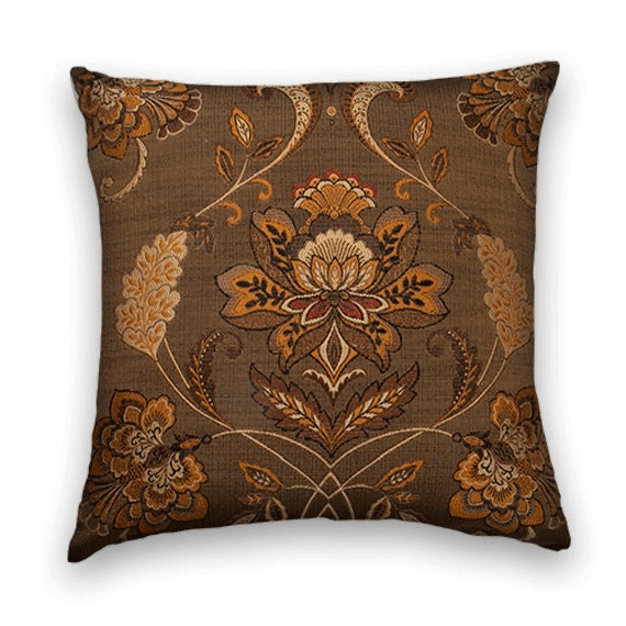 Brown Decorative Pillow Cover 18x18 or by CodyandCooperDesigns
