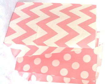 12 STanDing CHeVRoN-light pink- BaGs-packaging-gifts-party favors-