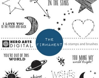 Instant download Hero Arts Digital Kit The Firmament Stars Constellations Planets
