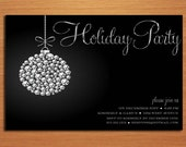 Sparkle Ornament /  Christmas Party DIY Customized Printable Party Invitations