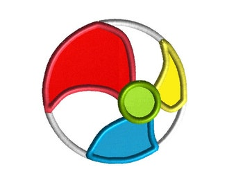 BeachBall Applique Machine Embroidery Design-INSTANT DOWNLOAD