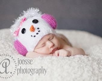 Little Snowfake Infant Hat