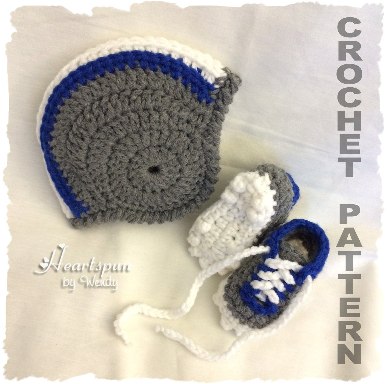 CROCHET PATTERN To make a Football Helmet Baby Hat with
