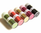 Destash Glitter Pack of Five Extra Fine Glitter Assorted Colors Halloween Colors Orange Lime Green Black Gold