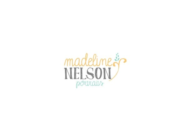 Custom Logo and Watermark Premade Logo for Photographers Crafty Businesses Hand Drawn Flower with hand Written Text Shabby Chic Vintage