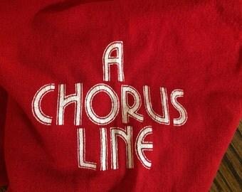 "Sale- Vintage Red ""Chorus Line"" Leotard"