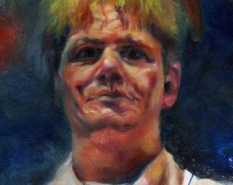 Canvas Print / Gordon Ramsay Pancake Portrait
