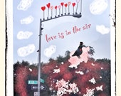 Valentines Day Card - NYC Pigeon Love is in the Air
