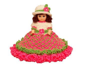"PDF Crochet Bed Doll Pattern - 13"" Bed Doll Pattern Allison (7222 PDF) Td creations"
