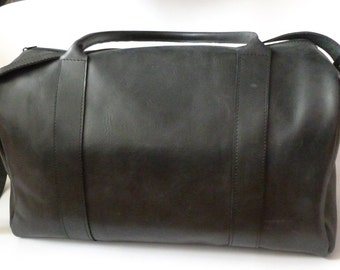 Small leather duffle bag / Travel bag / Weekender / Sac voyage