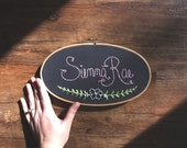 Personalized Name Sign Embroidery Hoop Vintage Floral Wreath Wall Art Nursery Children Housewarming Gift