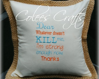 Custom Embroidered Pillow Cover