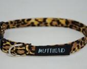 Extra small dog collar, Esme (punk rock leopard print)