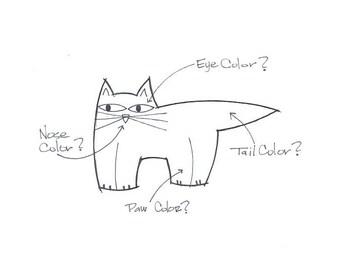Custom Fat Cat Pin Custom Fat Cat Brooch Handmade Ceramic by Sean Brown