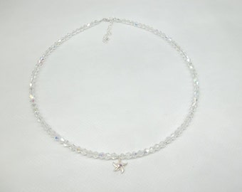 Starfish Necklace Beach Necklace Clear AB Crystal Necklace Beach Wedding Necklace Swarovski Elements 925 Sterling Silver BuyAny3+1Free