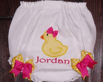 Boutique Rubber Duckie Birthday Bloomers with Bows