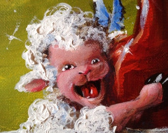"""Sheep Incognito by Conni Togel """"Full-Bodied Red Whine"""""""