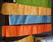 Jelly Roll Strips plus Extra, Bold and Colorful, For Quilting, Sewing, Fabric Stash Bundle, 3 yds +