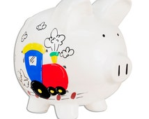 Popular Items For Train Piggy Bank On Etsy
