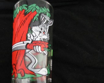 Vintage Bugs Bunny and Elmer Fudd Collectors Pepsi Drinking Glass