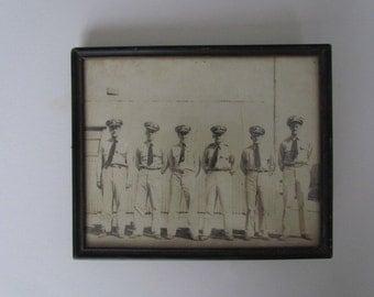 Vintage WW2  US Army, Marine and Navy Men in Uniform Photo