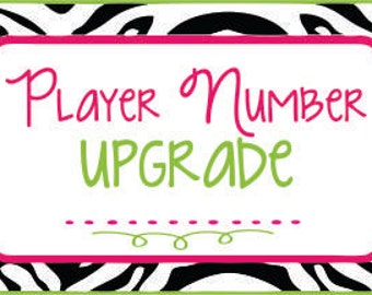 Player Number Upgrade to back of tshirt