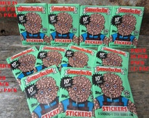 1 Pack Vintage Garbage Pail Kids Sticker Cards Topps 1987 Series 10 Unopened Pack of Cards 80s 10th Series GPK Collectible Cards 1980s VTG