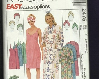 McCalls 2475 Relaxation Spa Wardrobe Size  S..M..L