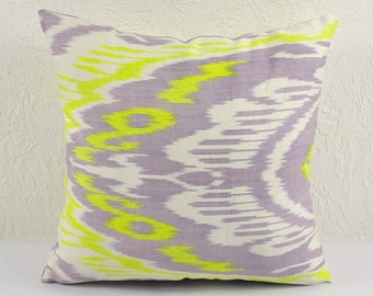 Ikat Pillow, Hand Woven Ikat Pillow Cover A404-1ab1, Ikat throw pillows, Designer pillows, Decorative pillows, Accent pillows