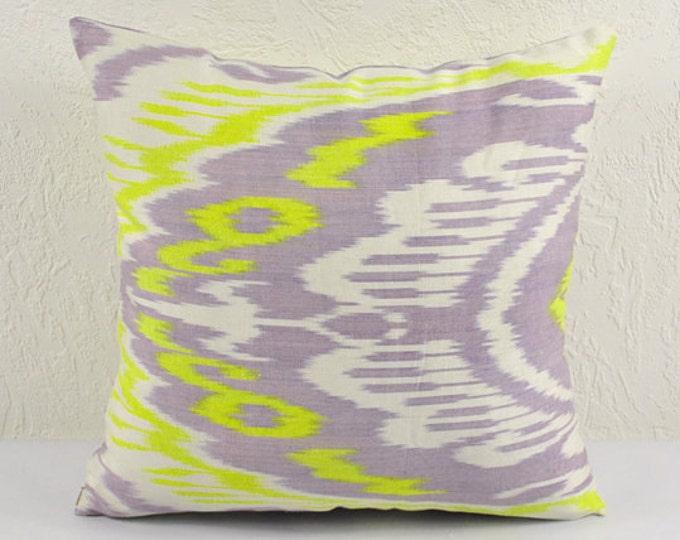 Ikat Pillow, Hand Woven Ikat Pillow Cover A404-1ab1, Ikat throw pillows, Designer pillows, Decorative pillows, Accent pillows