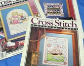 reserved 3 Cross Stitch & Country Craft Magazines , Fall Designs, Nautical Sampler, Floral