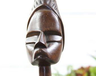 Beach Decor Wooden Vintage African Figurine by SEASTYLE