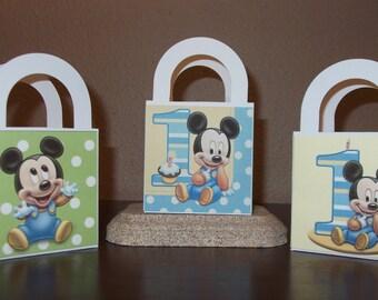 Mickey 1st Birthday Favor/Treat Bags 3x3 (Set of 12)