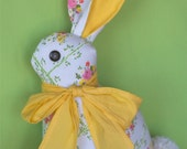 Bunny Pillow with Yellow Bow