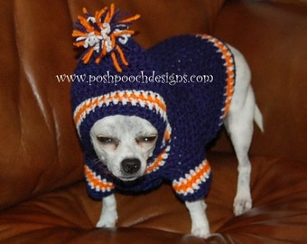 Dog Hoodie -Sports Team dog Hoodie - Small dogs 2-15 lbs Dog Hoody