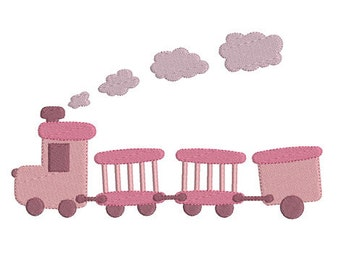 Instant download train embroidery design