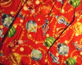 Red christmas ornament fabric