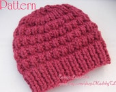 Instant Download Thick & Quick Bulky Hat PDF Pattern.