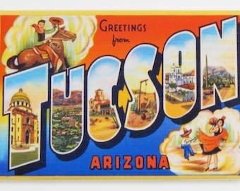 Greetings from Tucson Arizona Fridge Magnet