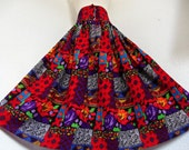 Color Is It . XL XXL . Colorful Bright Floating Maxi Skirt 80s 1x 2x Plus Size
