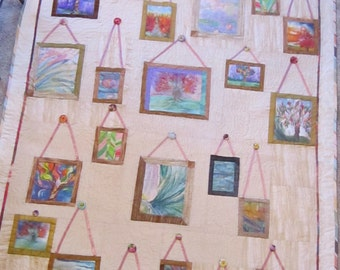 Quilt Twin or Queen.  Tree of Life Art Salon Quilt