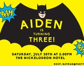 Personalized Batman Invitation