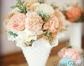Large Floral Arrangement, Reception Centerpiece, Home Decor, Soft Colors Wedding Reception, Wedding Decor, Sola Flowers