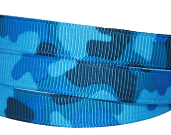 Blue Camouflage - 3/8 inch wide - Five or Ten Yards