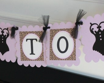 """Lavender Purple Brown & Black Leopard Print Lingerie Bridal Shower Bachelorette """"Bride to Be"""" Banner -  Ask about our Party Pack Special"""